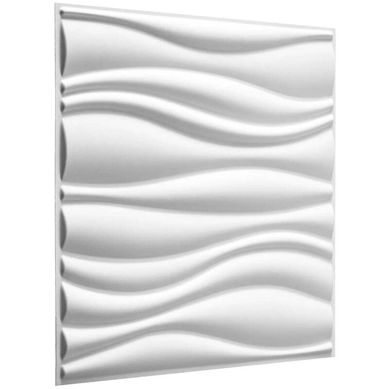 TRUE DEAL WallArt 24 pcs Panneaux muraux 3D GA-WA04 Waves