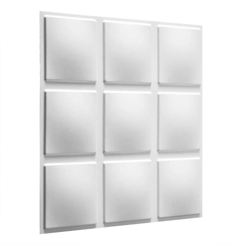 TRUE DEAL WallArt Panneaux muraux 3D Cubes 12 pcs GA-WA07