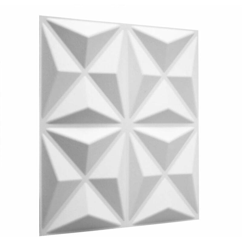 TRUE DEAL WallArt Panneaux muraux 3D Cullinans 12 pcs GA-WA17