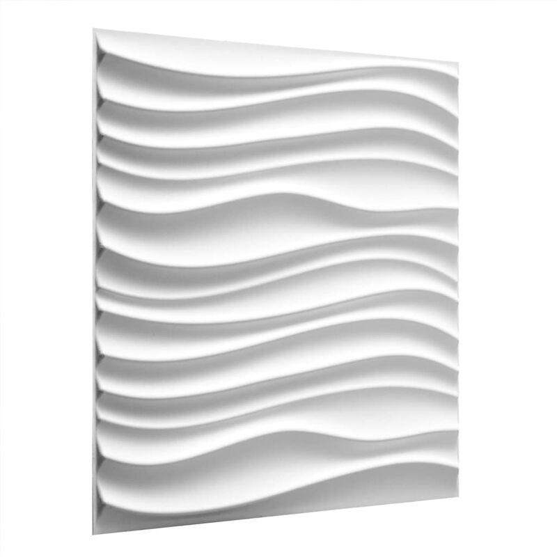 TRUE DEAL WallArt Panneaux muraux 3D Maxwell 12 pcs GA-WA22