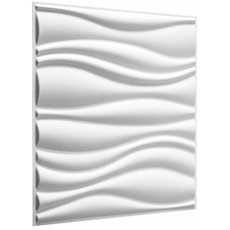TRUE DEAL WallArt Panneaux muraux 3D Vagues 12 pcs GA-WA04
