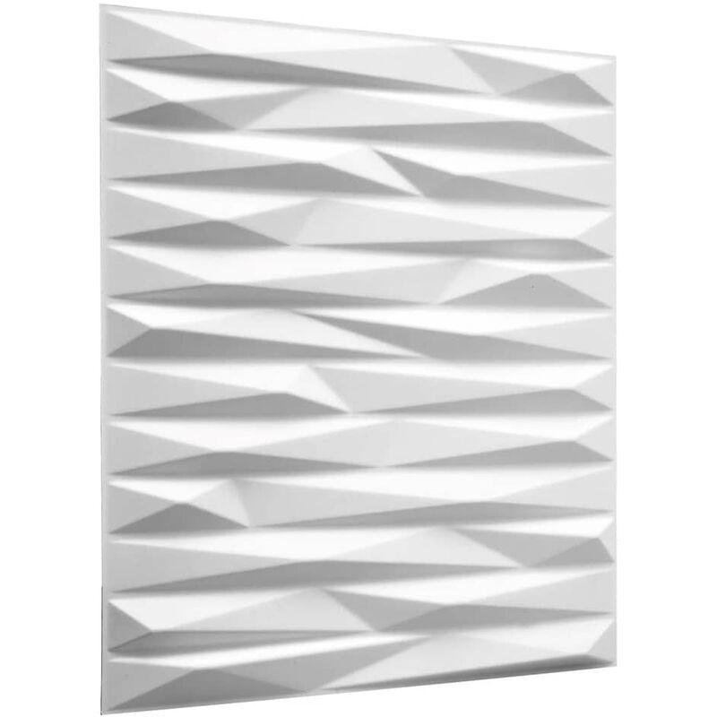TRUE DEAL WallArt Panneaux muraux 3D Valeria 12 pcs GA-WA24