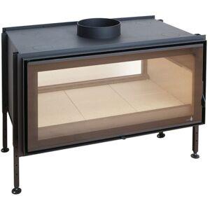 Termofoc - Insert à bois noir modèle C-1000DF + Kit de ventilation + Régulateur - Publicité