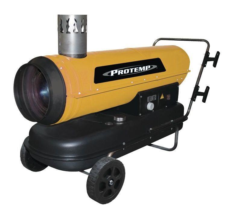 PROTEMP Canon à chaleur au fioul avec évacuation du gaz 575 m³ 30 kW Protemp PT100IDF