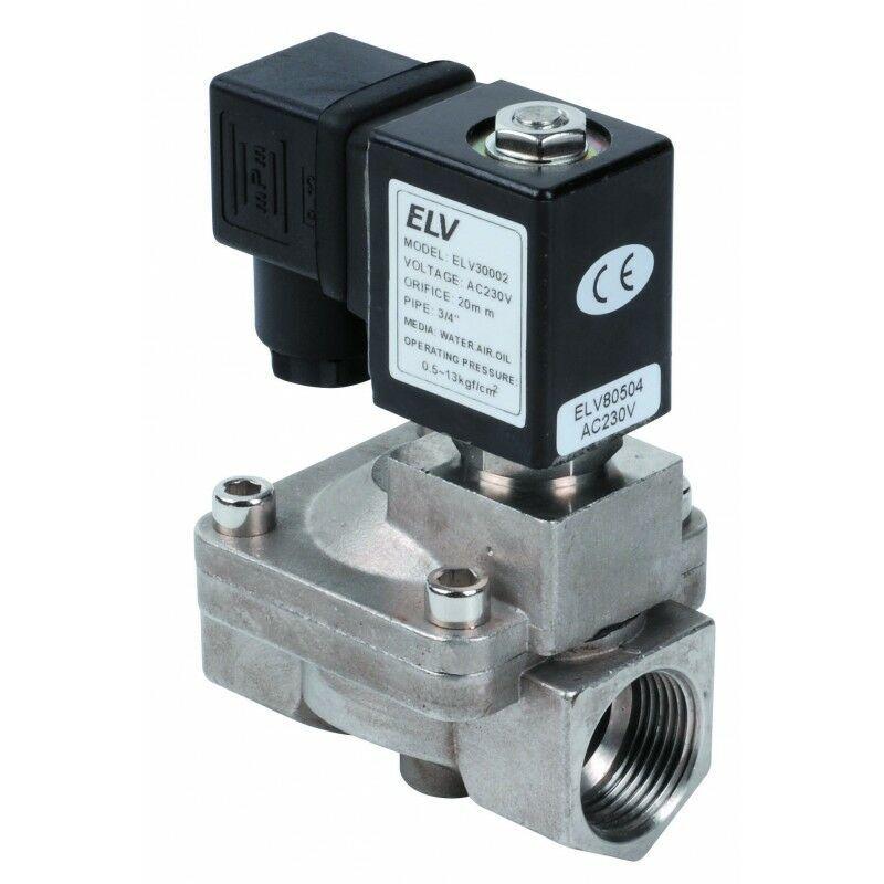 ELV Electrovanne inox 3/4'' NF action indirecte