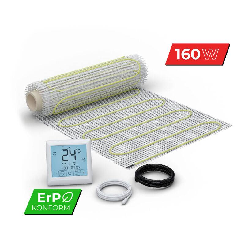 WARM-ON Kit Plancher chauffant électrique rayonnant pour carrelage 160 W/m² Set Complet
