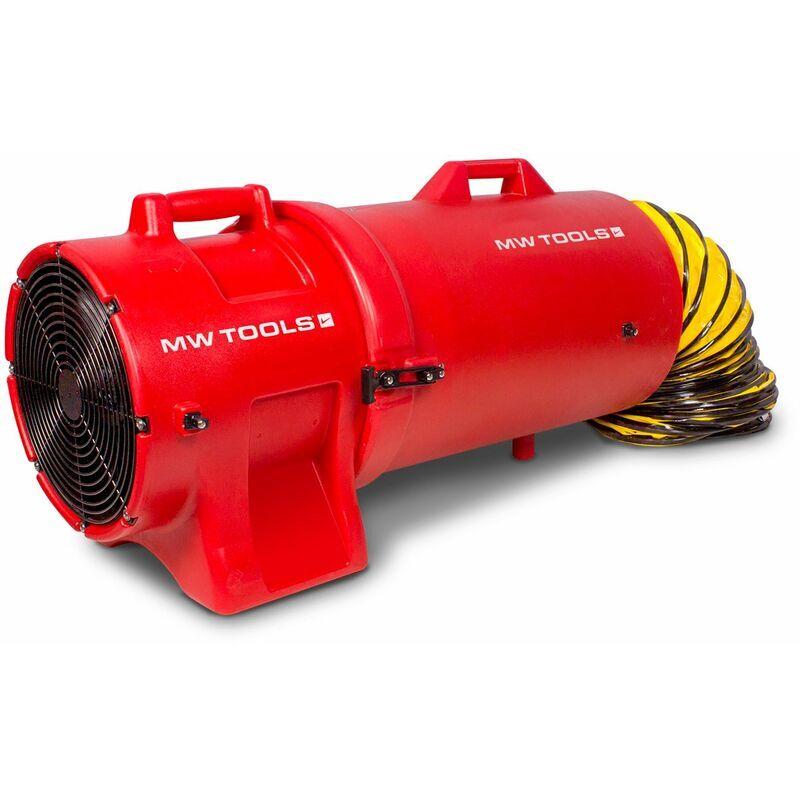 MW-TOOLS Ventilateur extracteur mobile avec tuyau d'extraction et porte-tuyau 300 mm