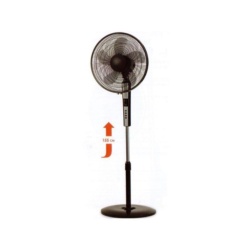 ARGO Ventilateur sur pied noir H1550mm Ø 400mm oscillant 3690m3/h 65W STANDY BLACK