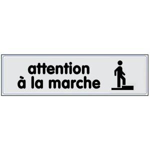 NOVAP Plaquette Attention à la marche - Plexiglas argent 170x45mm - 4320151 - Publicité