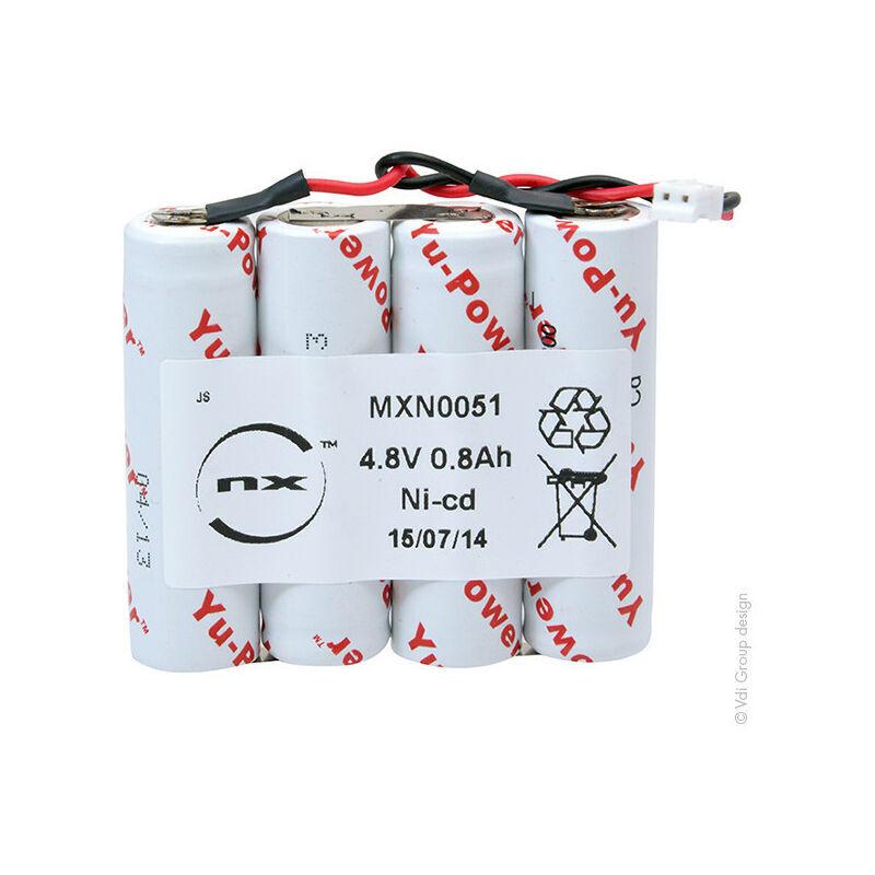 NX ™ NX - Batterie eclairage secours 4x AA HT 4S1P ST1 4.8V 800mAh JST