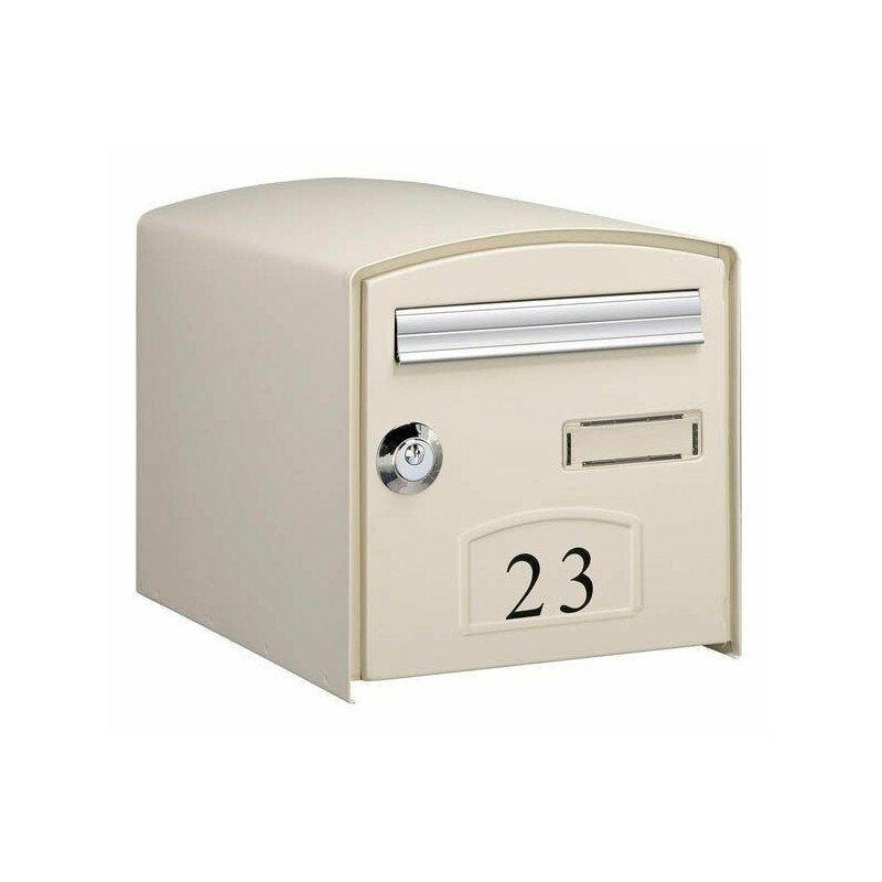 Boîte aux lettres simple face DOME - Ton pierre - Beige