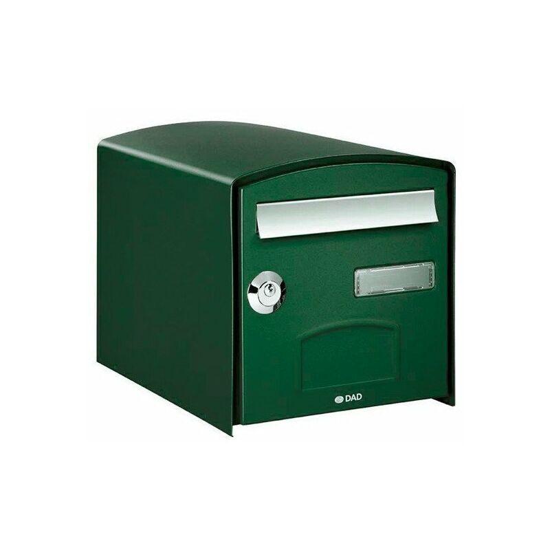 Boîte aux lettres simple face DOME - Vert - Vert