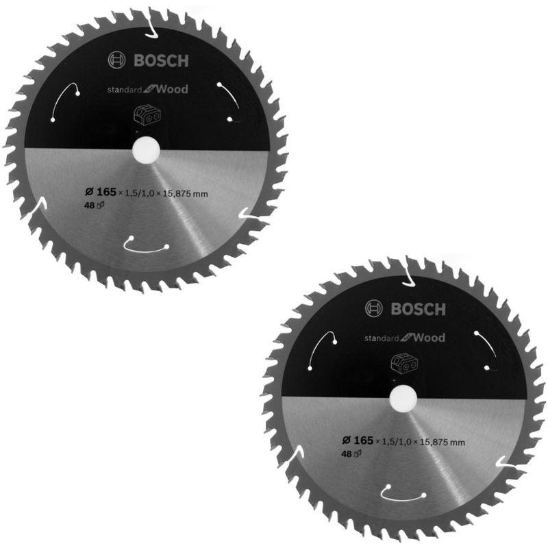Bosch Lame de scie circulaire Standard pour bois 165 x 1,5 x 15,875 mm - 48