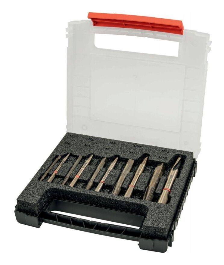 SCHRODER Coffret de 5 Extracteurs avec 5 forets coniques 10 pièces Schroder