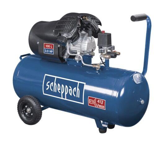 SCHEPPACH Compresseur à 2 cylindres 100 litres HC100DC Scheppach 5906120901