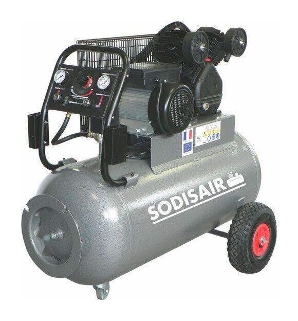 SODISAIR Compresseur 100 Litres V fonte a courroie 400 V tri S11209A - Sodisair
