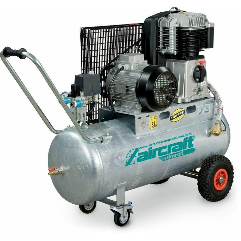 AIRCRAFT Compresseur à courroie huile cuve galvaniée 10 bars - 100 l AIRPROFI 703/100