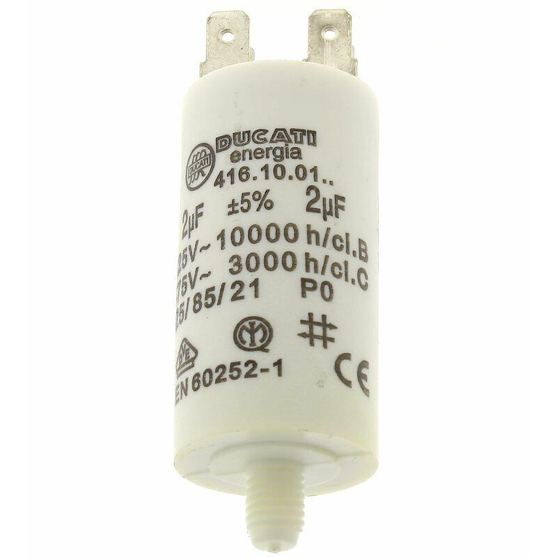 Airlux - Condensateur 2µf 400v pour Hotte De dietrich, Lave-linge Miele,