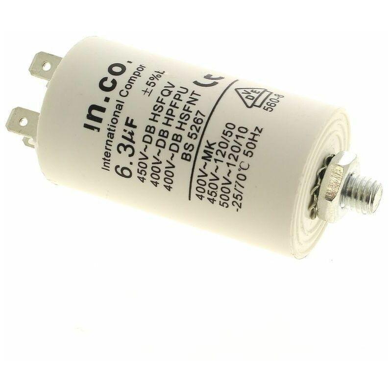 Electrolux - Condensateur 6,3µf 400v pour Lave-vaisselle Ariston,
