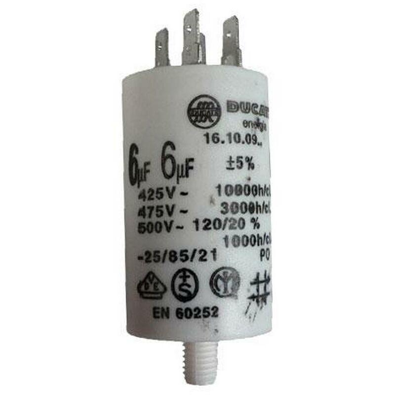 FAGOR Condensateur 6MF 450V (LV0817100) Lave-vaisselle FAGOR, AEG, ARTHUR MARTIN