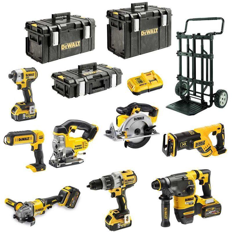 DeWALT Kit DCK-FR834MP4DS-CADDYB (DCD996 DCG414 DCH333 DCS367 DCS391 DCS331