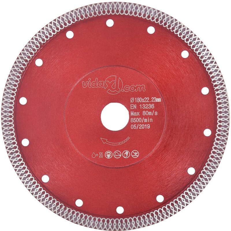 Vidaxl - Disque de coupe diamanté avec trous Acier 230 mm