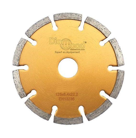 DIAMWOOD Disque diamant à déjointoyer D. 125 x Al. 22,23 x Ht. 7 x ép. 6,4 mm - béton,
