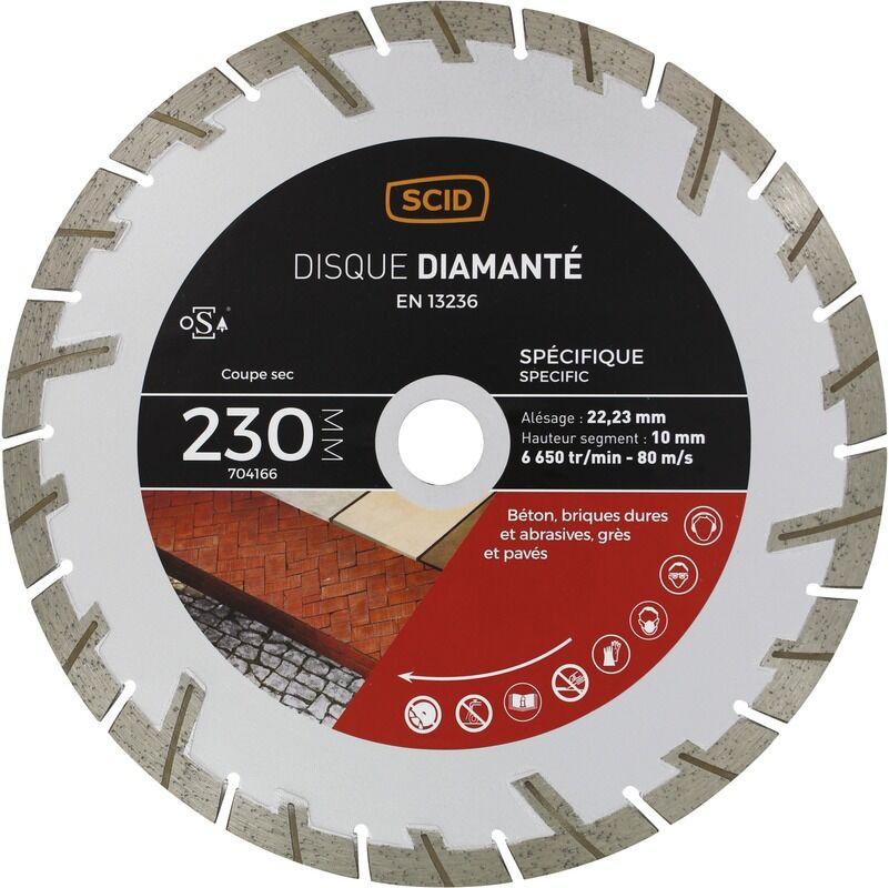 SCID Disque diamanté matériaux durs et abrasifs SCID - Diamètre 230 mm