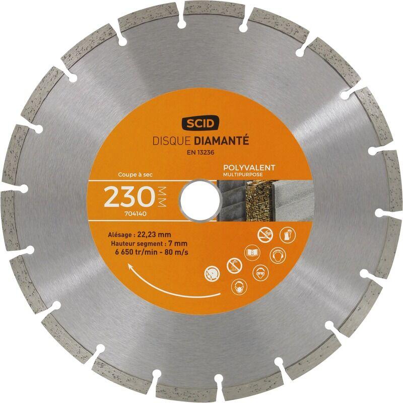SCID Disque diamanté polyvalent bricolage SCID - Diamètre 230 mm