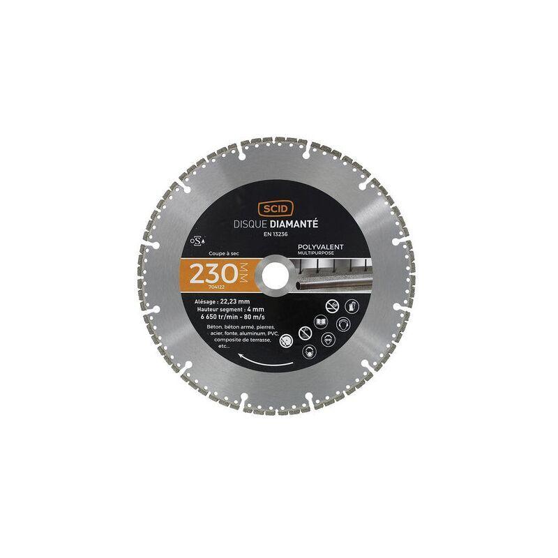 SCID Disque diamanté polyvalent expert SCID - Diamètre 230 mm