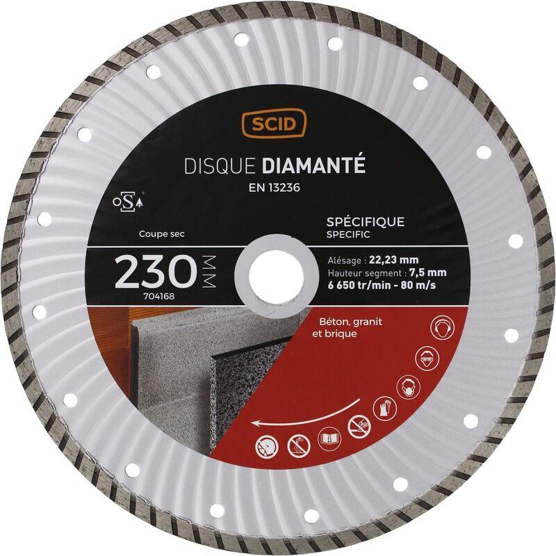 SCID Disque diamanté spécifique crénelé SCID - 230 mm