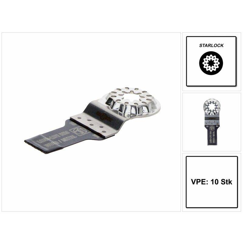 FEIN E-Cut Long-Life Starlock Lame de scie 20 x 34 mm Bi-métal, 10 pcs (63502183240)