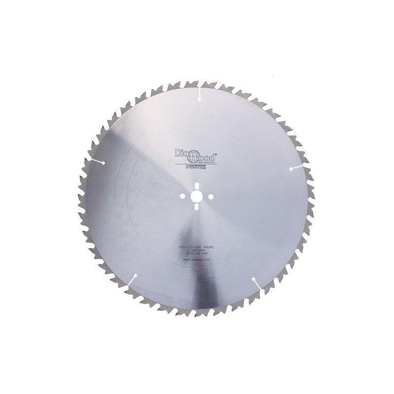 Diamwood Platinum - Lame de scie circulaire HM débit D. 600 x Al. 30 x ép. 4 mm