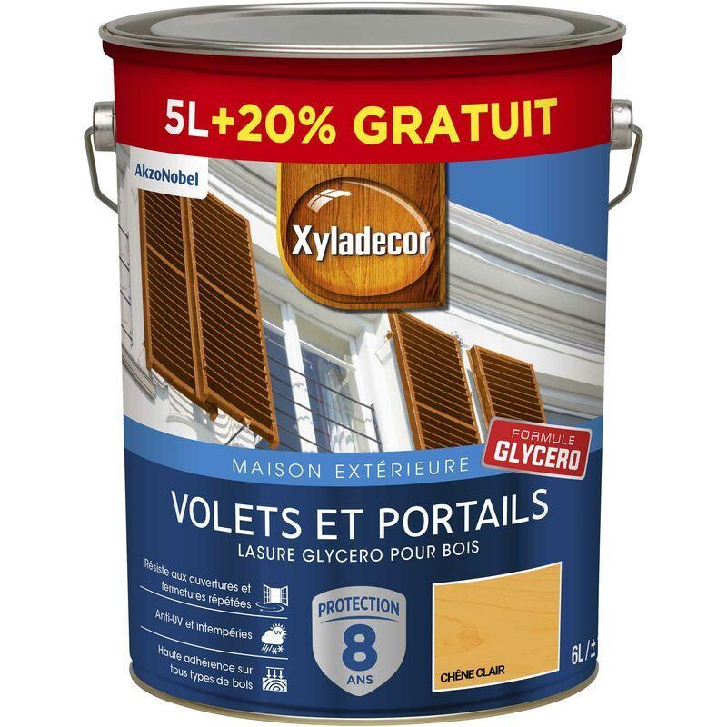 XYLADECOR Lasure protectrice glycéro pour bois extérieur - Volets et Portails - aspect