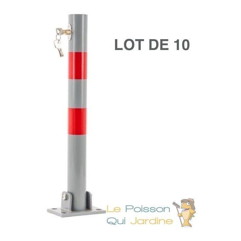 Www.lepoissonquijardine.fr - Lot 10 Barrières Ronde Bloque Parking Et De