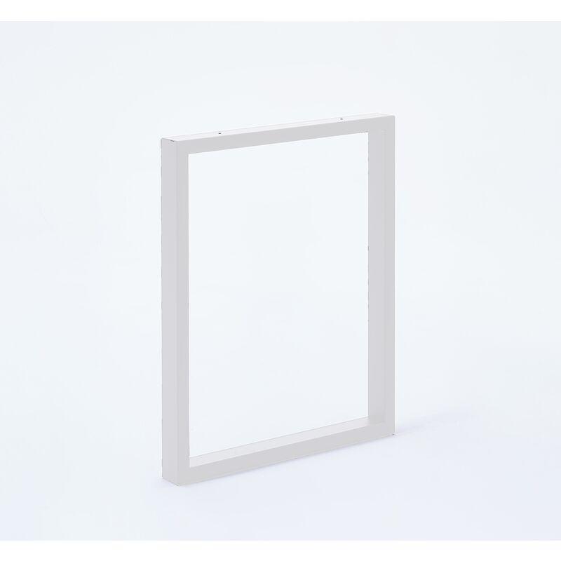 MOTTEZ Lot de 2 pieds de table forme rectangulaire pour plan de travail snack /