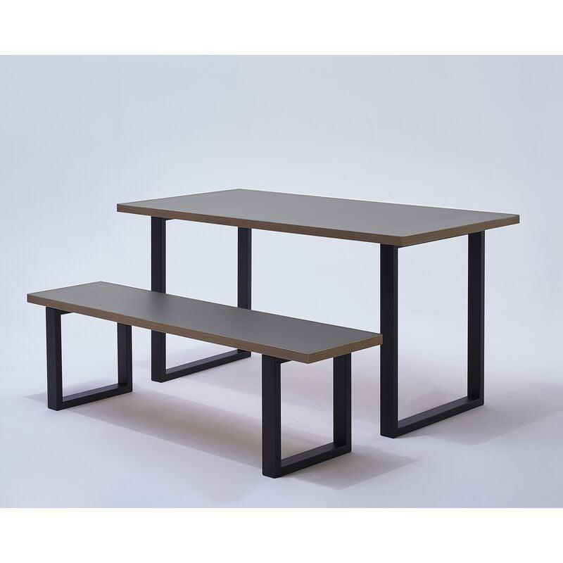 Mottez - Lot de 2 pieds de table forme rectangulaire pour plan de travail snack