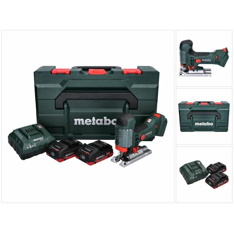 METABO STA 18 LTX 100 Scie sauteuse sans fil 18V ( 601002840 ) + 2x Batteries 4,0Ah +