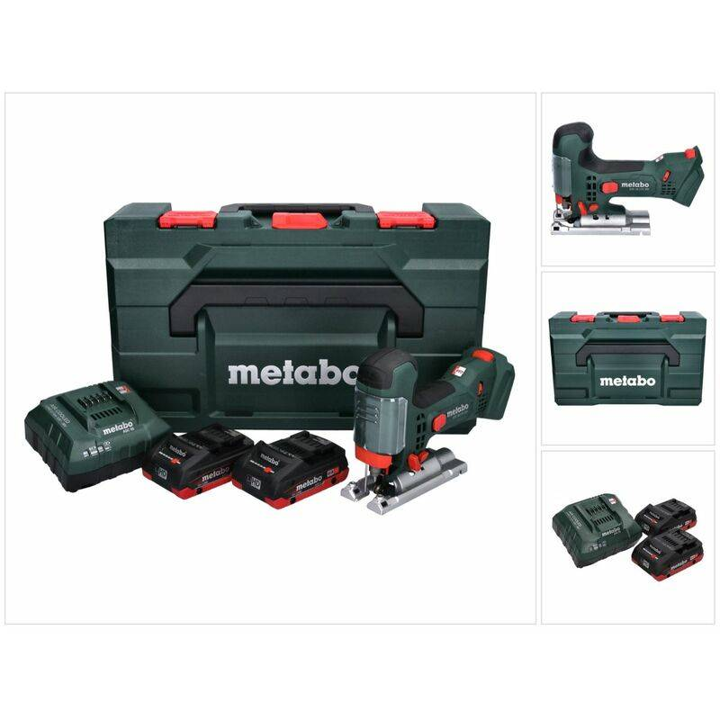Metabo STA 18 LTX 100 Scie sauteuse sans fil 18V ( 601002840 ) + 2x Batteries