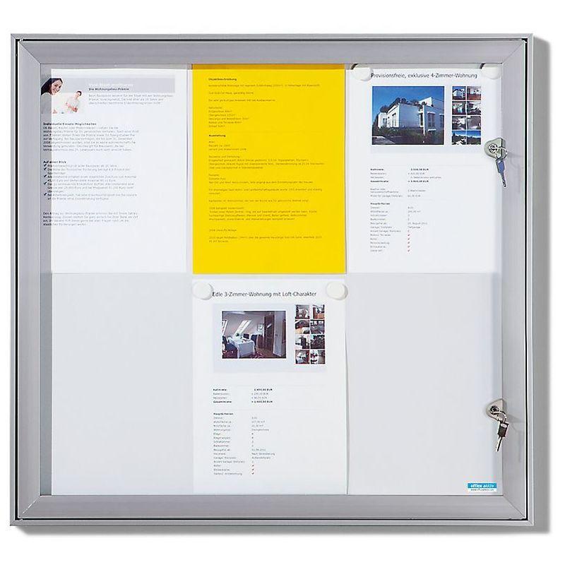 CERTEO OFFICE AKKTIV Vitrine d'affichage à porte battante - l x h x p ext. 960 x 1005