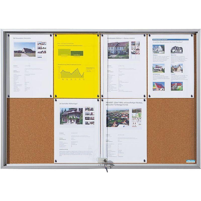 CERTEO OFFICE AKKTIV Vitrine d'affichage à portes coulissantes - l x h x p ext. 906 x