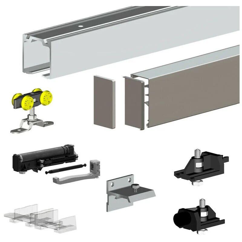 SLID'UP BY MANTION Pack premium SLID'UP 160 pour porte coulissante jusqu'à 1000 mm - rail 1,94 m
