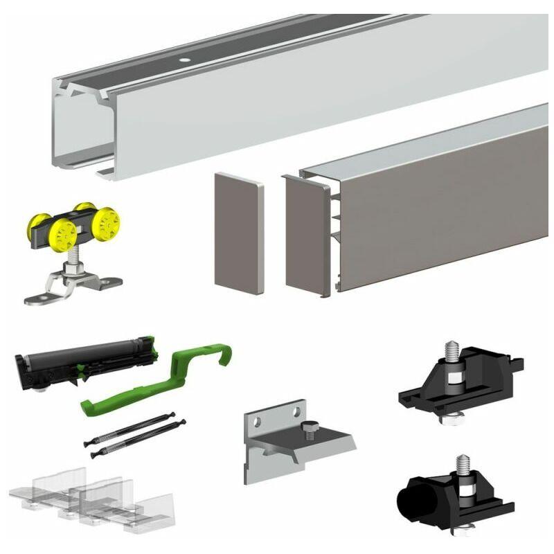 SLID'UP BY MANTION Pack premium SLID'UP 160 pour porte coulissante jusqu'à 1500 mm - rail 3 m - 60