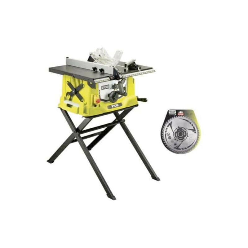 RYOBI Pack RYOBI scie sur table électrique 1800W 254mm piètement rétractable RTS1800S