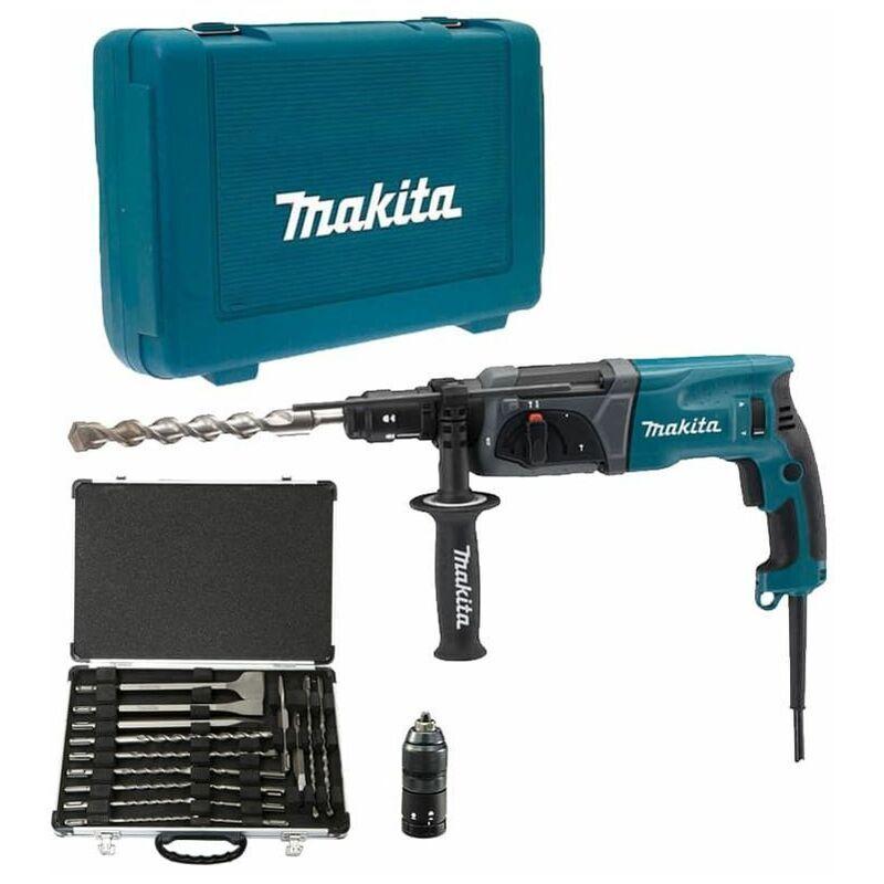 MAKITA Perforateur 780W SDS-Plus avec coffret d'accessoires - MAKITA HR2470FTP