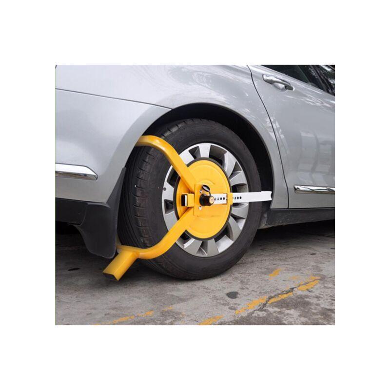 BIGB Sabot roue antivol caravane, voiture, camping car, remorque