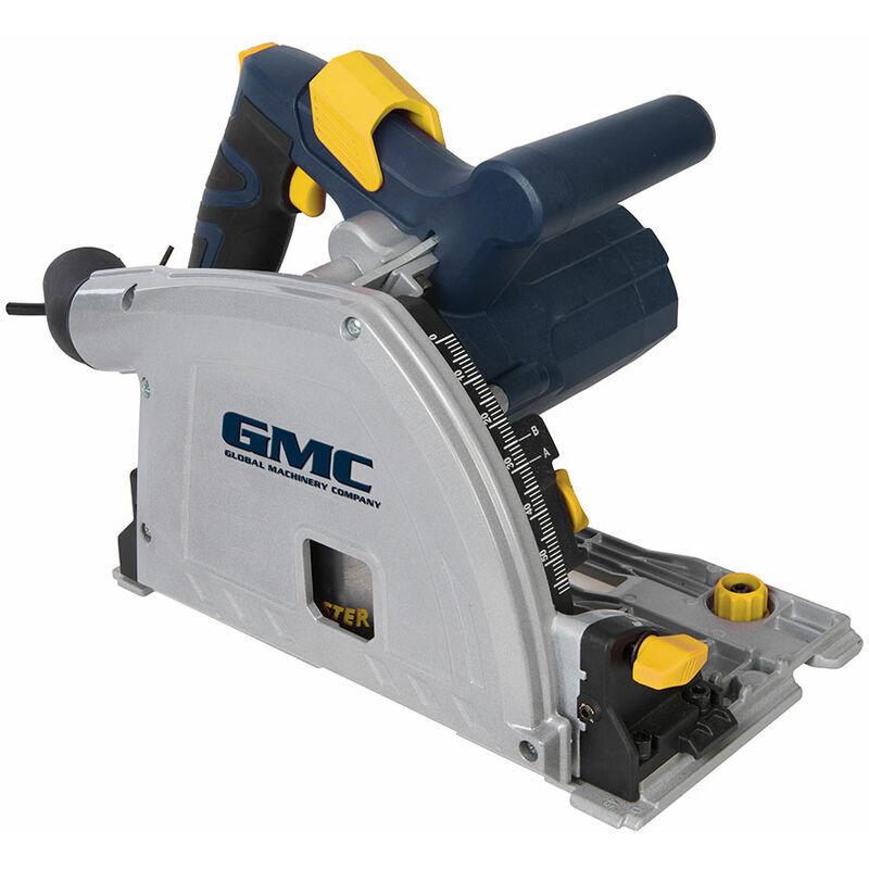 GMC SCIE CIRCULAIRE PLONGEANTE GMC 165 mm 1400 W AVEC RAIL DE GUIDAGE