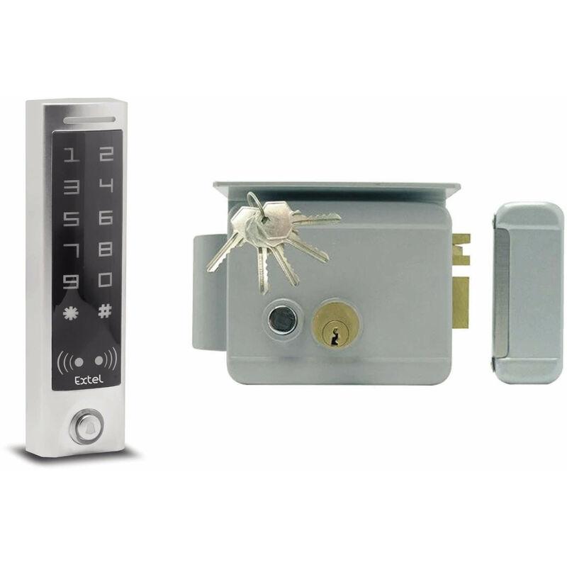 EXTEL Serrure électrique WE 5001/2 BIS - Serrure + digicode à badge slim