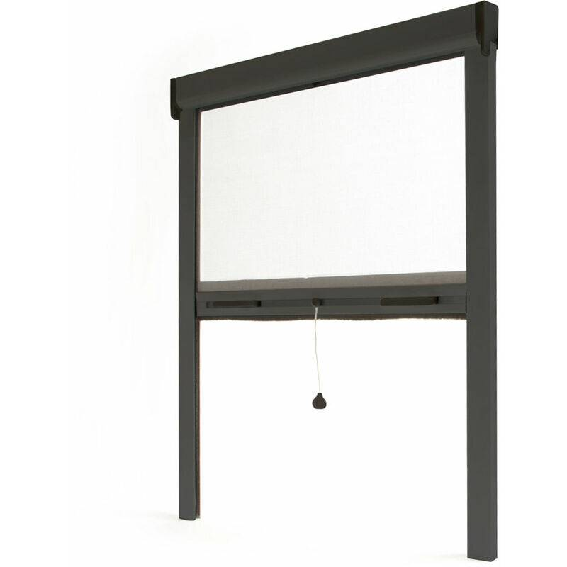 AVOSDIM Store moustiquaire enroulable fenêtre LUXE ALU Anthracite RAL7016 - L1500 x