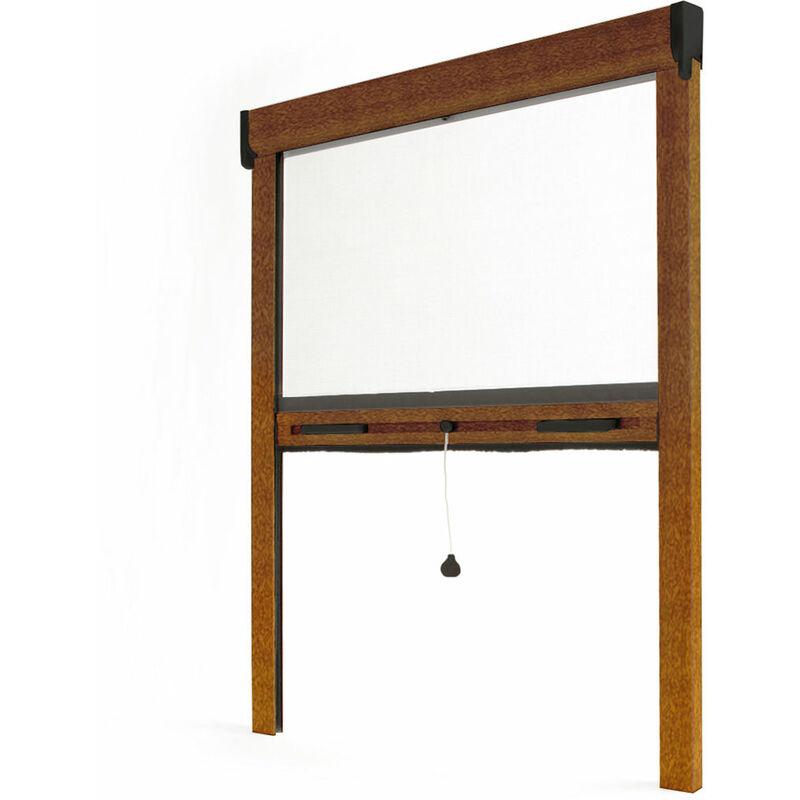 AVOSDIM Store moustiquaire enroulable fenêtre LUXE ALU Chêne doré - L1500 x H2200mm